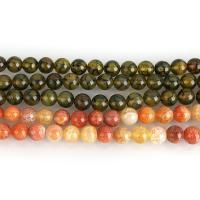 Drachenvenen Achat Perle, rund, 10mm, Bohrung:ca. 1.5mm, ca. 38PCs/Strang, verkauft per ca. 15 ZollInch Strang