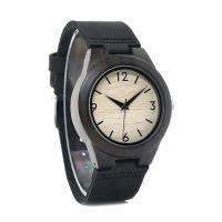 BOBOBIRD® Unisex Uhr, PU Leder, mit Zifferblatt aus Holz & Glas & Edelstahl, einstellbar, originale Farbe, 39mm, 20mm, Länge:ca. 6.5-9 ZollInch, verkauft von PC
