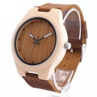 BOBOBIRD® Unisex Uhr, PU Leder, mit Zifferblatt aus Holz & Glas & Edelstahl, einstellbar, originale Farbe, 45mm, 22mm, Länge:ca. 6.5-8.5 ZollInch, verkauft von PC