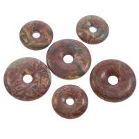 Rhodonit Perlen, flache Runde, verschiedene Größen vorhanden, Bohrung:ca. 6-8mm, verkauft von PC
