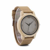 BOBOBIRD® Unisex Uhr, PU Leder, mit Zifferblatt aus Holz & Glas & Edelstahl, einstellbar, originale Farbe, 44mm, 20mm, Länge:ca. 6.5-8.5 ZollInch, verkauft von PC