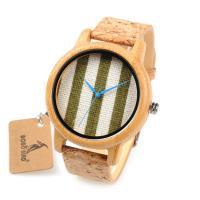 BOBOBIRD® Unisex Uhr, Holz, mit Glas & Edelstahl, einstellbar, originale Farbe, 44mm, 20mm, Länge:ca. 9 ZollInch, verkauft von PC