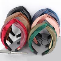 Haarreif, Velour, mit PU Leder & Kunststoff, für Frau, keine, 70mm, verkauft von PC