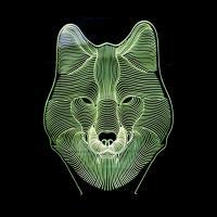 Acryl Nachtlicht, mit ABS Kunststoff, Wolf, automatisch die Farbe wechseln & verschiedene Stile für Wahl, 220x153x55mm, verkauft von PC