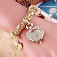 Damen Armbanduhr, Zinklegierung, mit Glas, plattiert, für Frau & mit Strass, keine, 18mm, 6mm, Länge:ca. 8.6 ZollInch, verkauft von PC