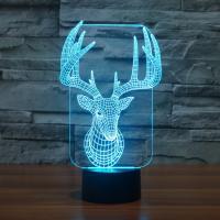 Nacht LED-Licht neben 3D-Lampe, Acryl, mit ABS Kunststoff, Tier, automatisch die Farbe wechseln & verschiedene Stile für Wahl, verkauft von PC