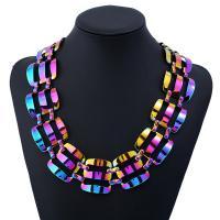 Eisen Halsketten, mit Verlängerungskettchen von 5cm, Pinselführung, für Frau, frei von Blei & Kadmium, 450mm, verkauft per ca. 17.5 ZollInch Strang