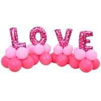 Ballone, LatexMilchsaft, Buchstabe, Wort Liebe, keine, 650mm, verkauft von PC