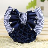 Polyester Haarschmuck Blume, mit Eisen, verschiedene Muster für Wahl & Aufbügeln & für Frau, 115x80mm, verkauft von PC