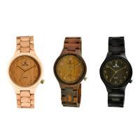 Holz Armbanduhr, mit Glas & Edelstahl, plattiert, unisex, keine, 43.5x18mm, Länge:ca. 9 ZollInch, verkauft von PC