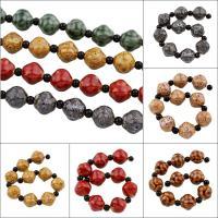 Glasierte Porzellan Perlen, glaciert, keine, 16x16mm, Bohrung:ca. 2mm, 10PCs/Strang, 10SträngeStrang/Tasche, verkauft per ca. 8.7 ZollInch Strang