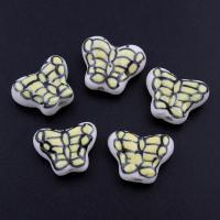 Porzellan Schmuckperlen, Schmetterling, glaciert, 19x15x6mm, Bohrung:ca. 2mm, 500PCs/Tasche, verkauft von Tasche