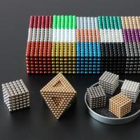 Magnetische Kugeln, Eisen, rund, plattiert, mit Magnet, keine, 5mm, 216PCs/setzen, verkauft von setzen