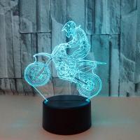 Nacht LED-Licht neben 3D-Lampe, Acryl, mit ABS Kunststoff, automatisch die Farbe wechseln & verschiedene Stile für Wahl, 220x153x55mm, verkauft von PC