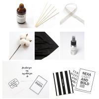 Polyester Photo Shoot Props, schwarz, 500x500mm ,200x270mm ,100x150mm ,110mm ,220mm ,500mm, verkauft von setzen