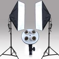 Kit Lumière Photographie, Zinklegierung, Top- Lichtstativ & Lampenhalter & Licht-Box, Demontage und Montage, schwarz, 500x700mm, verkauft von Menge