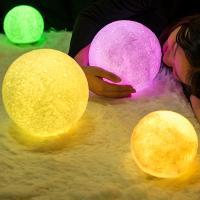 Nacht LED-Licht neben 3D-Lampe, ABS Kunststoff, mit Holz, 130x130x130mm, verkauft von PC