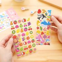 PVC Kunststoff Aufkleber Papier, Cartoon, 3D-Effekt & für Kinder & verschiedene Stile für Wahl, 10PCs/Menge, verkauft von Menge