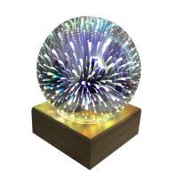 Nachtlampe, Glas, mit Holz, automatisch die Farbe wechseln, 170x170x200mm, verkauft von PC