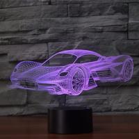 Nacht LED-Licht neben 3D-Lampe, ABS Kunststoff, mit Acryl, Rennwagen, automatisch die Farbe wechseln & verschiedene Stile für Wahl & verschiedene Muster für Wahl, verkauft von setzen