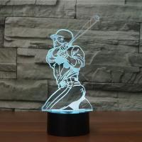 Nacht LED-Licht neben 3D-Lampe, ABS Kunststoff, mit Acryl, Cartoon, automatisch die Farbe wechseln & verschiedene Stile für Wahl, 119x87x240mm, verkauft von setzen