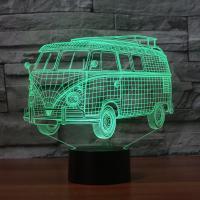 Nacht LED-Licht neben 3D-Lampe, ABS Kunststoff, mit Acryl, Bus, automatisch die Farbe wechseln & verschiedene Stile für Wahl, 210x87x201mm, verkauft von setzen