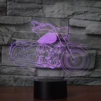 Nacht LED-Licht neben 3D-Lampe, ABS Kunststoff, mit Acryl, Motorrad, automatisch die Farbe wechseln & verschiedene Stile für Wahl, 214x87x196mm, verkauft von setzen