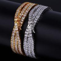Messingkette Halskette, Messing, plattiert, unterschiedliche Länge der Wahl & Kandare Kette & für den Menschen & mit kubischem Zirkonia, keine, 6mm, verkauft von Strang