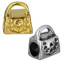 Edelstahl Kaution Perle Einstellung, Handtasche, plattiert, keine, 10x10x8.50mm, Bohrung:ca. 5x3mm, 5mm, Innendurchmesser:ca. 1.5, 1mm, 10PCs/Tasche, verkauft von Tasche