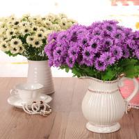 Kunststoff Kunstblume, mit Seidenblume, Blumenstrauß, handgemacht, keine, 340mm, 6PCs/Menge, verkauft von Menge