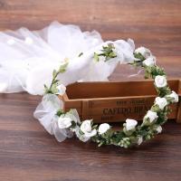 Seidenspinnerei Haarkranz, mit Gaze & PE Schaumstoff, Blume, handgemacht, für Frau, 60mm, verkauft von PC