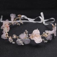 Seidenspinnerei Haarkranz, mit Satinband & Kristall, Blume, handgemacht, für Frau & facettierte, 50x500mm, verkauft von PC