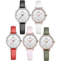 MEIBIN® Damen Schmuck Uhren, Zinklegierung, mit PU Leder & Glas, plattiert, einstellbar & für Frau, keine, 28x8mm, 10mm, Länge:ca. 7.5 ZollInch, verkauft von PC