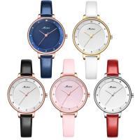 MEIBIN® Damen Schmuck Uhren, Zinklegierung, mit PU Leder & Glas, plattiert, 30 m wasserdicht & einstellbar & für Frau & mit Strass, keine, 33x9mm, 10mm, Länge:ca. 7.5 ZollInch, verkauft von PC