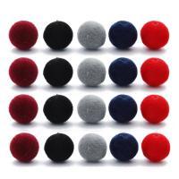 Acryl Perle, rund, mit Samt überzogen, keine, 8mm, Bohrung:ca. 1mm, 100PCs/Tasche, verkauft von Tasche