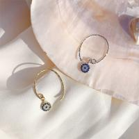 925 Sterling Silber Ohrring, blöser Blick, plattiert, für Frau & mit Strass, keine, 6x6mm, verkauft von Paar