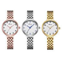 MEIBIN® Damen Schmuck Uhren, Edelstahl, mit Glas, plattiert, für Frau, keine, 27x8mm, Länge:ca. 7 ZollInch, verkauft von PC