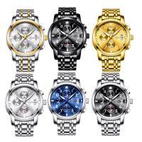 ONTHEEDGE®-Männer-Schmuck-Uhren, Edelstahl, mit Zinklegierung Zifferblatt & Glas, plattiert, 30 m wasserdicht & für den Menschen & glänzend, keine, 41x10mm, Länge:ca. 9.4 ZollInch, verkauft von PC