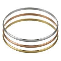 Edelstahl -Armband -Set, plattiert, für Frau, 3.50mm, Innendurchmesser:ca. 68mm, 3PCs/setzen, verkauft von setzen