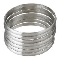 Edelstahl -Armband -Set, gebürstet & für Frau, originale Farbe, 5.50mm, Innendurchmesser:ca. 68mm, 7PCs/setzen, verkauft von setzen