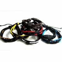 Kuhhaut Armband, mit Gewachsten Baumwollkordel, unisex & einstellbar, keine, Länge:7-9 ZollInch, 10SträngeStrang/Menge, verkauft von Menge
