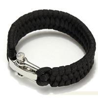 Polyester Survival Armband, Zinklegierung Schraube Pin Schäkel, unisex, keine, 20cm, verkauft per ca. 7.8 ZollInch Strang