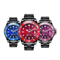 TEVISE® Uhrenkollektion, Edelstahl, mit Zinklegierung Zifferblatt & Glas, plattiert, stem-Winder & für den Menschen & wasserdicht, keine, 43x14mm, Länge:ca. 9 ZollInch, verkauft von PC