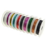Messing Draht, Elektrophorese, gemischte Farben, 0.3mm, Länge:ca. 100 m, 10PCs/Tasche, verkauft von Tasche