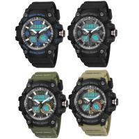 PANARS® Uhrenkollektion, Silikon, mit Zinklegierung Zifferblatt & Kunststoff & Edelstahl, plattiert, einstellbar & LED & für den Menschen & wasserdicht & glänzend, keine, 56x26x16.7mm, Länge:ca. 10.2 ZollInch, verkauft von PC