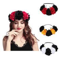 Seidenspinnerei Haarkranz, mit Nylonschnur, Blume, Bohemian-Stil & für Frau, keine, 110x250mm, verkauft von PC