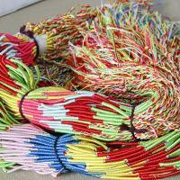 Polyester Armband-Cord, Kumihimo & handgefertigt & für Frau & 2 strängig, 2.5x585mm, Länge:ca. 7 ZollInch, 100PCs/Menge, verkauft von Menge
