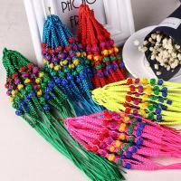 Nylon Polypropylen Armband-Cord, Kumihimo & handgefertigt & unisex, gemischte Farben, 280mm, Länge:ca. 11 , 100PCs/Menge, verkauft von Menge