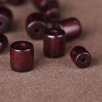 rotes Sandelholz Perle, Trommel, verschiedene Größen vorhanden, Bohrung:ca. 2mm, 100PCs/Menge, verkauft von Menge