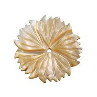 Natürliche Süßwasser Muschel Perlen, Blume, verschiedenen Materialien für die Wahl, 2x28mm, Bohrung:ca. 1mm, verkauft von PC